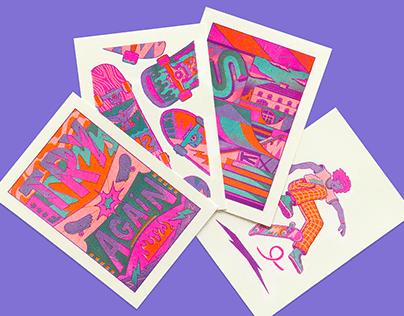 SK8 risoprint cards