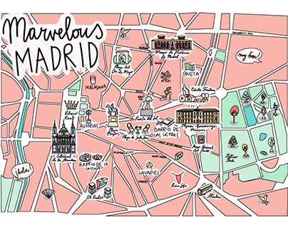 Madrid Illustrated Map 2.0