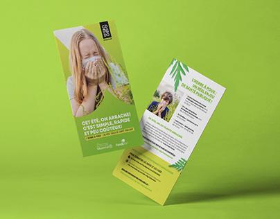 Campagne contrôle de l'herbe à poux