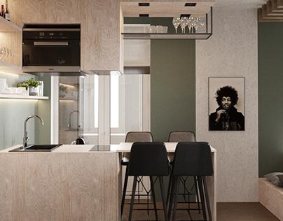 Studio flat 32 m² Moscow