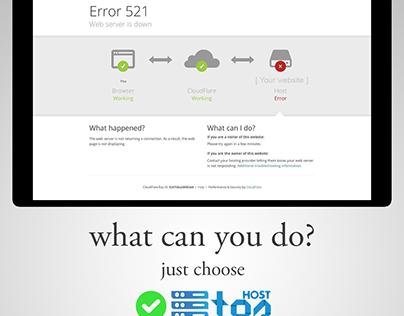 Web Server Down! Just choose TOShost!