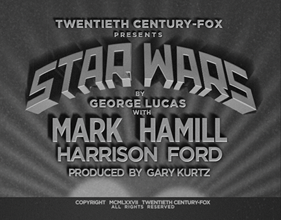Star Wars as Old Film Titles