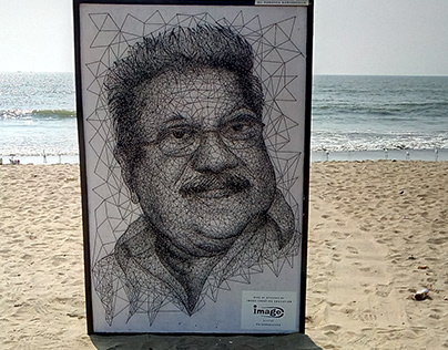 Punathil Kunjabdulla- Thread art