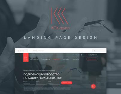 KSK Group landing page design