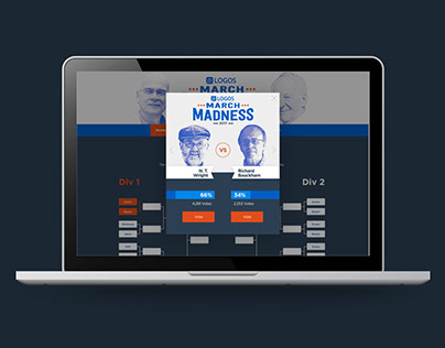 Logos March Madness Promotion and landing page
