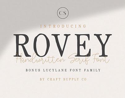 FREE | Rovey Handwritten Serif Font + Bonus