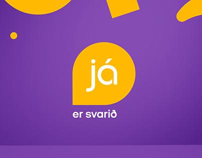 Já.is rebranding