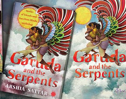 Garuda and the Serpents | Book illustrations