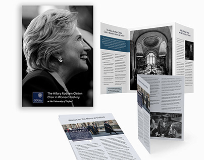 Hillary Clinton, Univ Oxford, Marketing Brochure Design