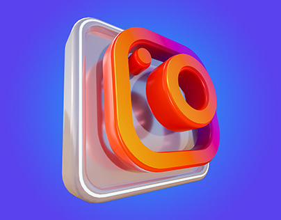 Free Download Instagram 3D Icon