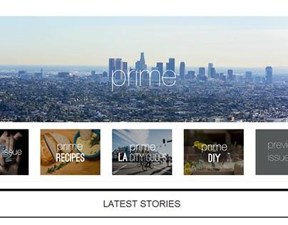 prime Magazine Website