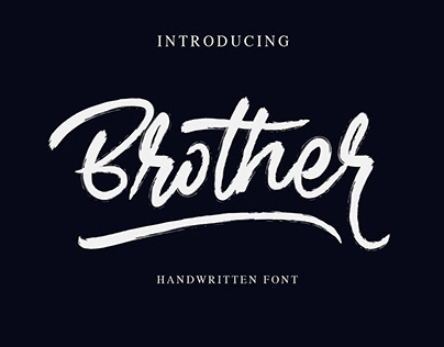 Free Brother Brush Handwritten Font