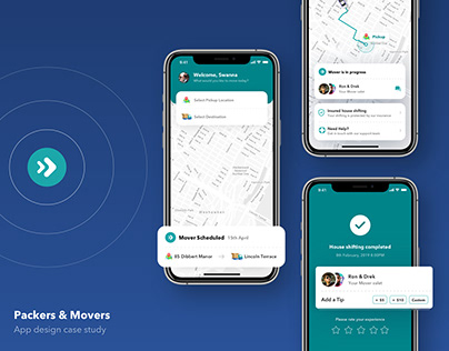 Movers - House shifting app design case study