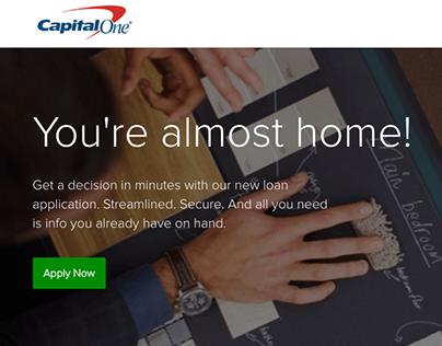 Capital One LoanHub Mortgage Responsive AngularJS, FED