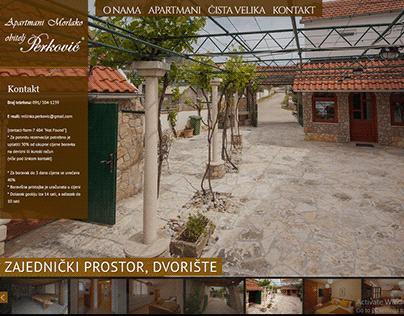 Izrada web stranice za Apartmane Morlako