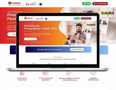 Online Learning Platform Landing Page