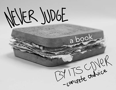 Concrete Advice | A Cement Book based on a Metaphor