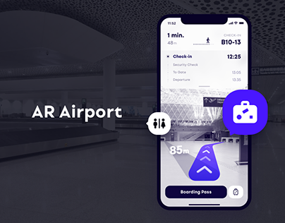 Improved airport experience through AR