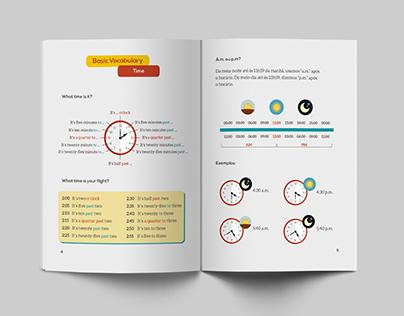 Redação + layout de peças - Curso de inglês