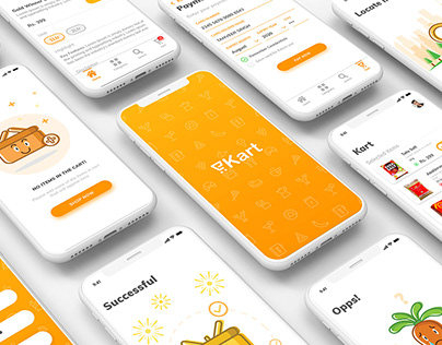 eKart - Online Grocery app design.