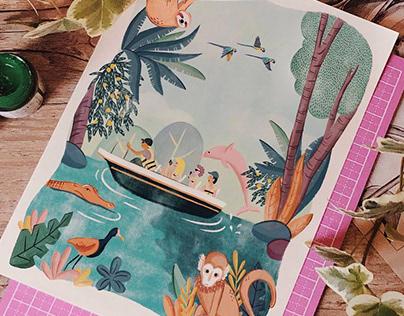 Ilustração • Auroraeco Viagens • Amazônia