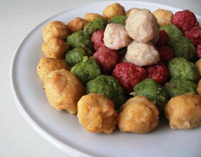 Cara Membuat Bakso Sayur Warna - Warni Dan Menarik