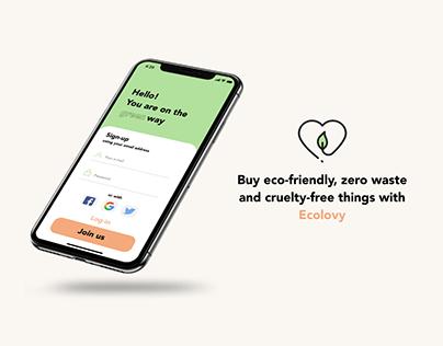 ECO SHOP Mobile App Concept