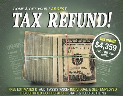Free Tax Refund Service Template PSD