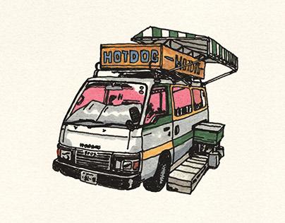 japan trip drawing