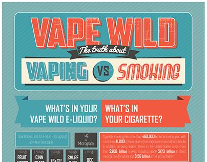 Vaping vs Smoking Infographic