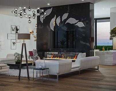 Lux Modern/ Canadian style Livingroom interior design