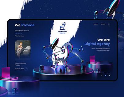 Blue Goat logo and website