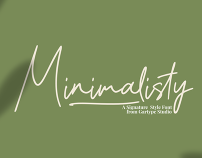 Minimalisty - FREE SIGNATURE STYLE FONT