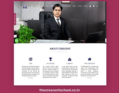 WordPress website development for The Crescent School