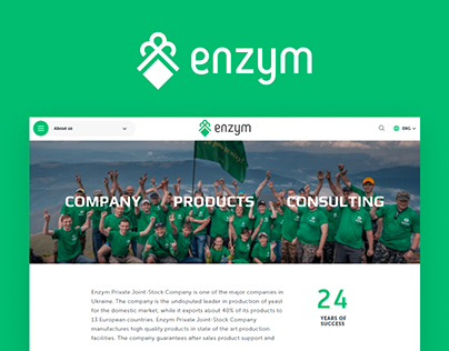 Corporate Website For Yeast Company ENZYM