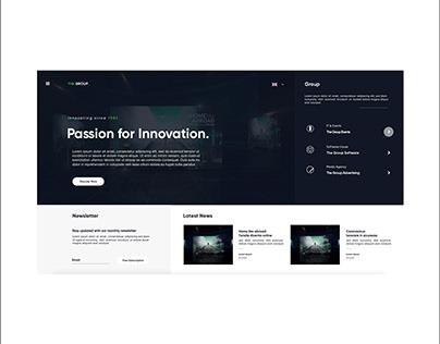 Corporate Website Mock Up