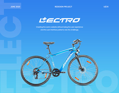 Lectro E-Bike UIUX Design : HERO LECTRO E-CYCLES
