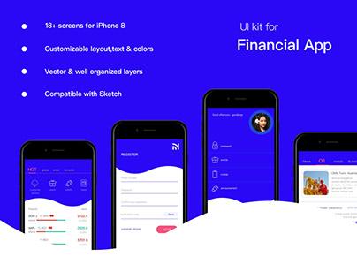 UI kit for Financial APP