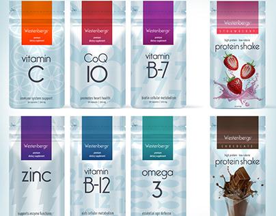 label design for new vitamin brand