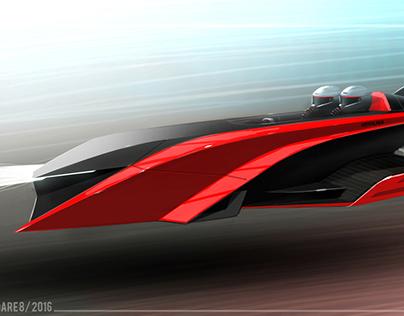 magnetic Levitation Super car Concept Design