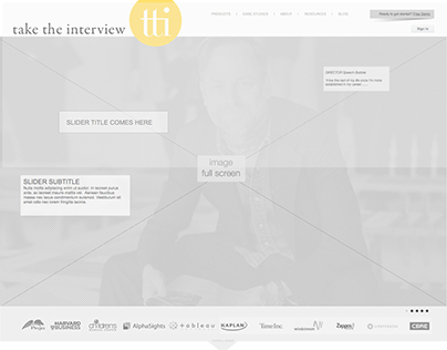 Re-branding of the Take the Interview - Site Redesign