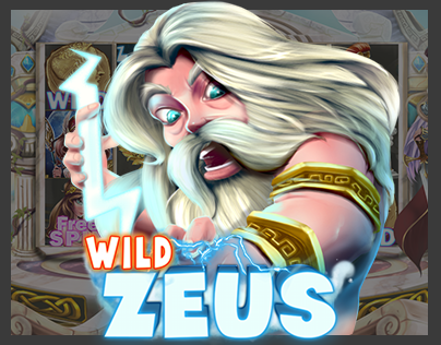 Slot machine_Casino mobile game Art_ Wild Zeus