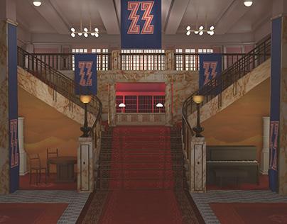 Maya modeling project: The Grand Budapest Hotel
