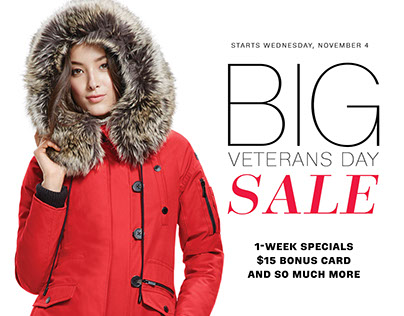 Lord & Taylor Veterans Day Sale Book