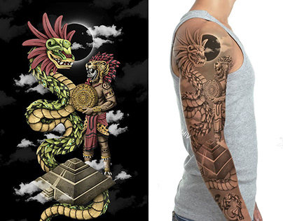 Aztec Sleeve Tattoo