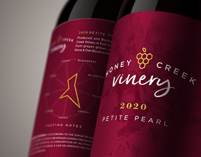 Honey Creek Vinery Logo & Wine Label