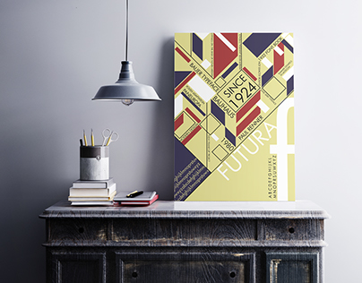 FONTBOOK AND TYPOGRAPHIC POSTER - FUTURA