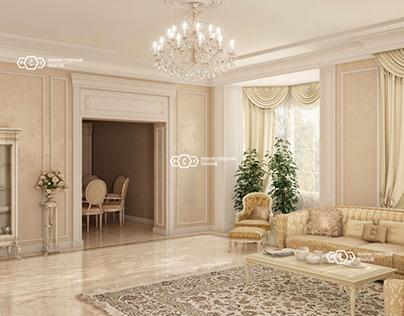 Interior design in a classic style. We make architect