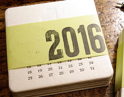 Typograficzny kalendarz 2016 Letterpress callendar