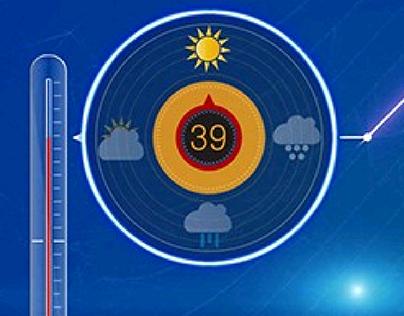 weather tv promo in progress...